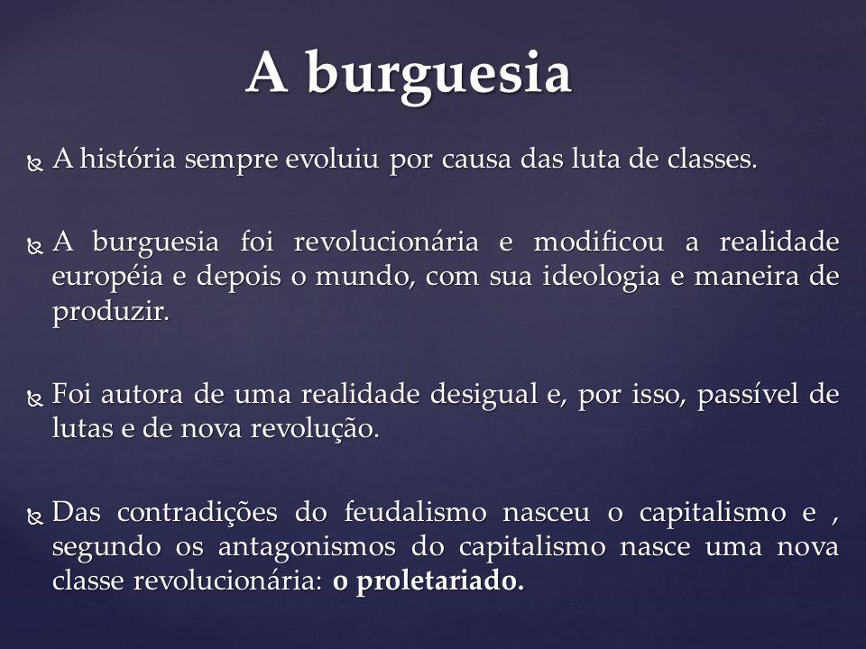 A burguesia A história sempre evoluiu por causa das luta de classes.