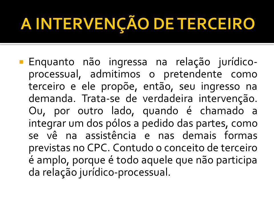 A INTERVENÇÃO DE TERCEIRO