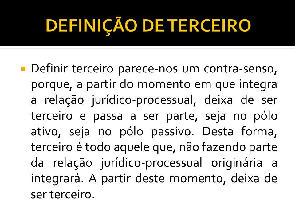DEFINIÇÃO DE TERCEIRO