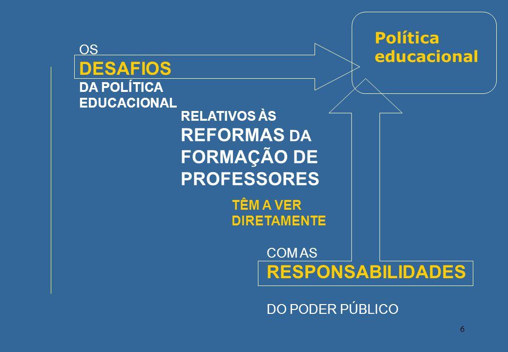 Política educacional OS DESAFIOS DA POLÍTICA EDUCACIONAL