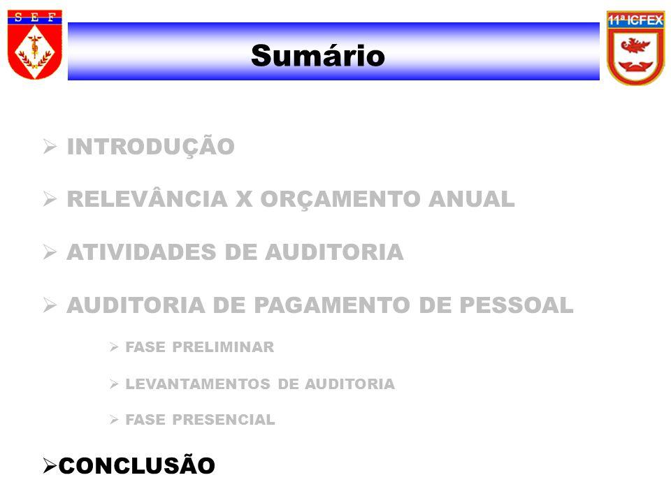 Sumário INTRODUÇÃO RELEVÂNCIA X ORÇAMENTO ANUAL