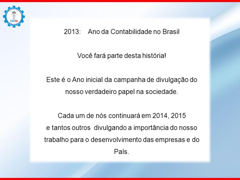 2013: Ano da Contabilidade no Brasil