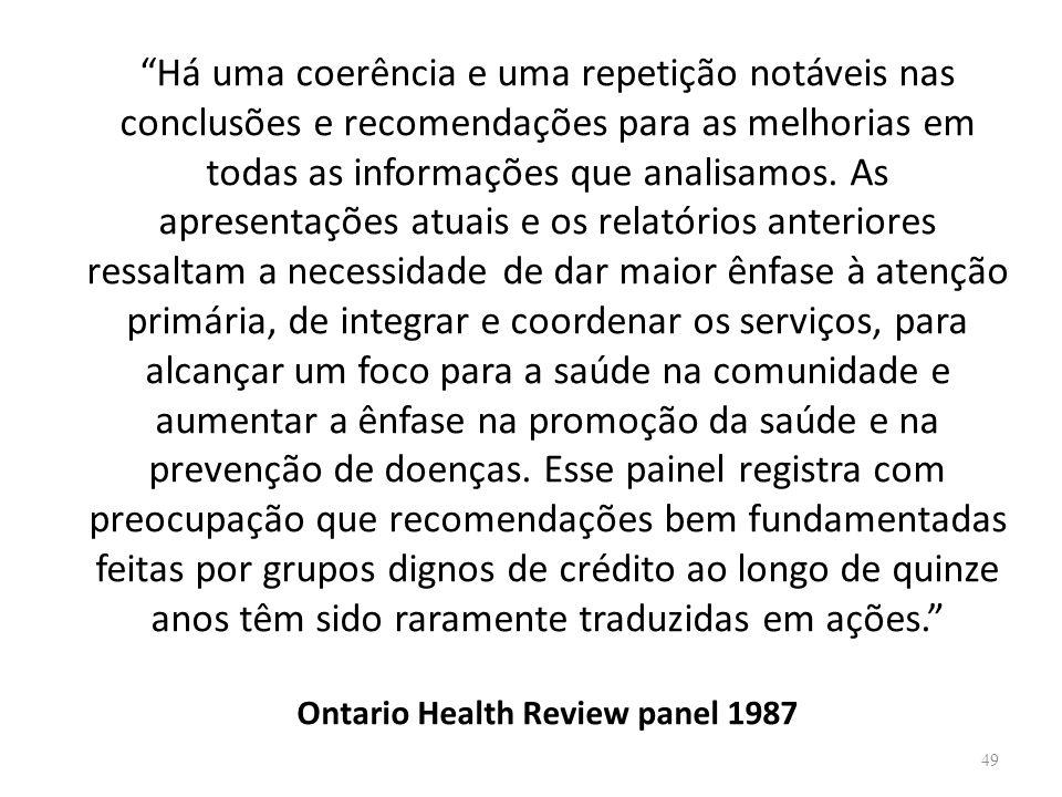 Há uma coerência e uma repetição notáveis nas conclusões e recomendações para as melhorias em todas as informações que analisamos.