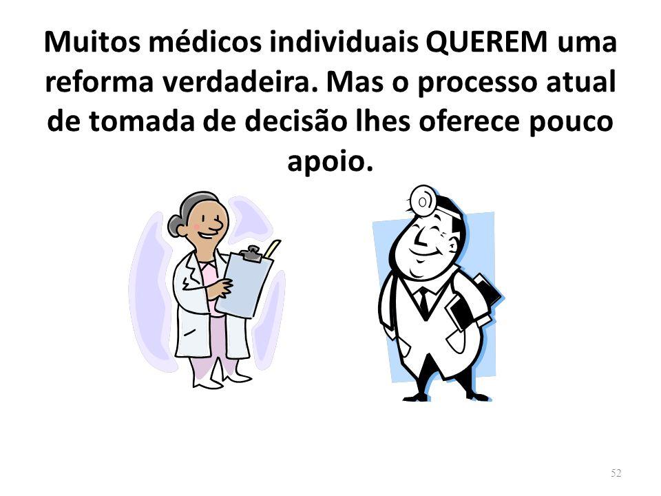 Muitos médicos individuais QUEREM uma reforma verdadeira