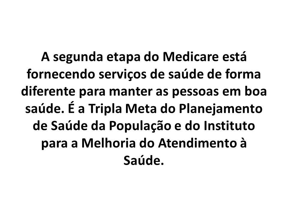 A segunda etapa do Medicare está fornecendo serviços de saúde de forma diferente para manter as pessoas em boa saúde.