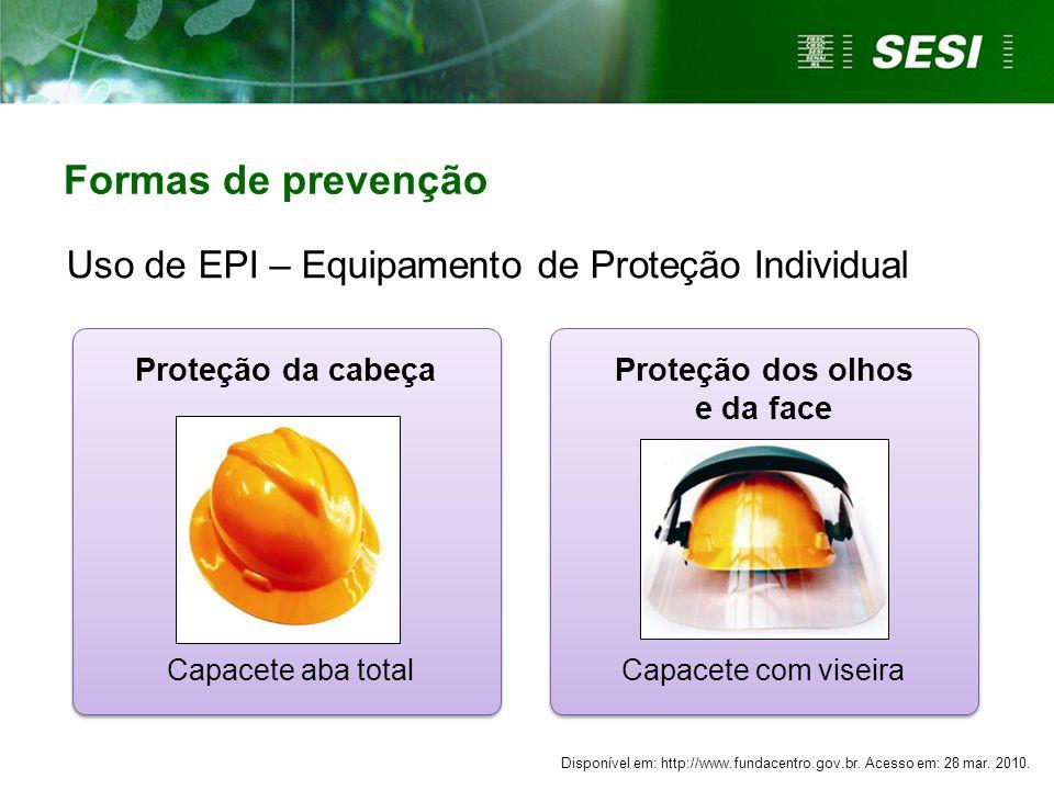 Proteção dos olhos e da face