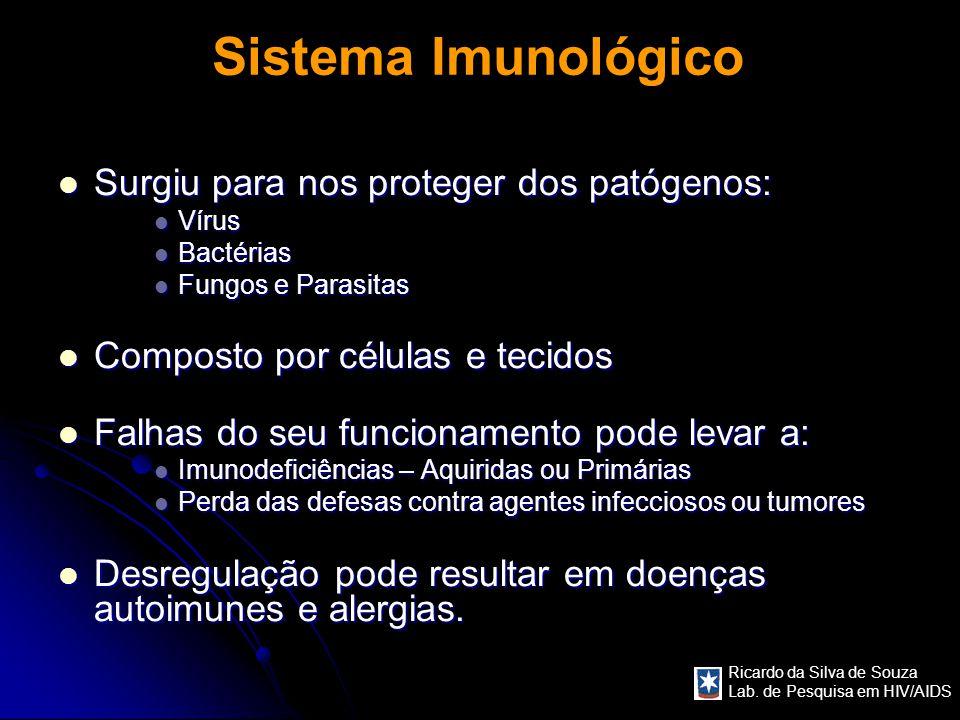 Sistema Imunológico Surgiu para nos proteger dos patógenos:
