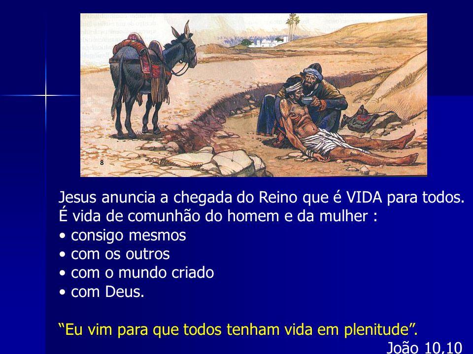 Jesus anuncia a chegada do Reino que é VIDA para todos.