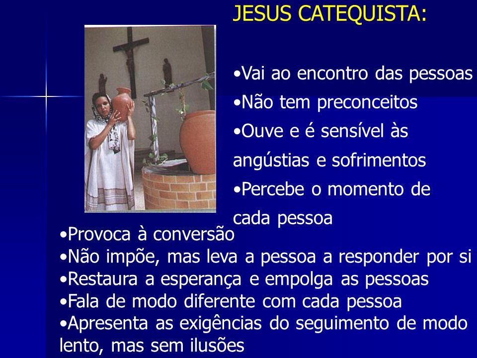JESUS CATEQUISTA: Vai ao encontro das pessoas Não tem preconceitos