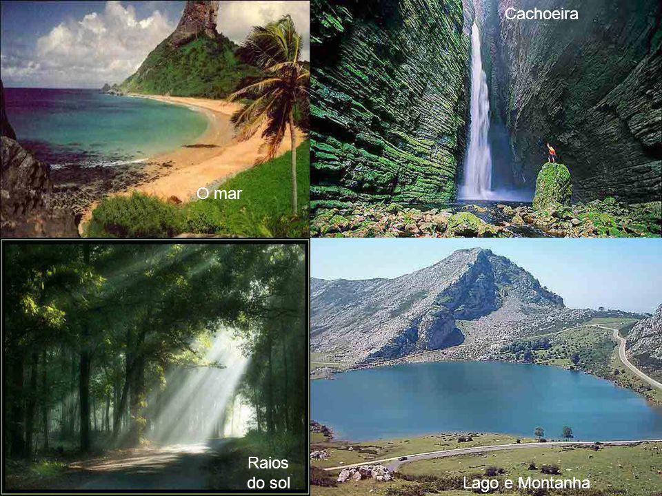 Cachoeira O mar Raios do sol Lago e Montanha