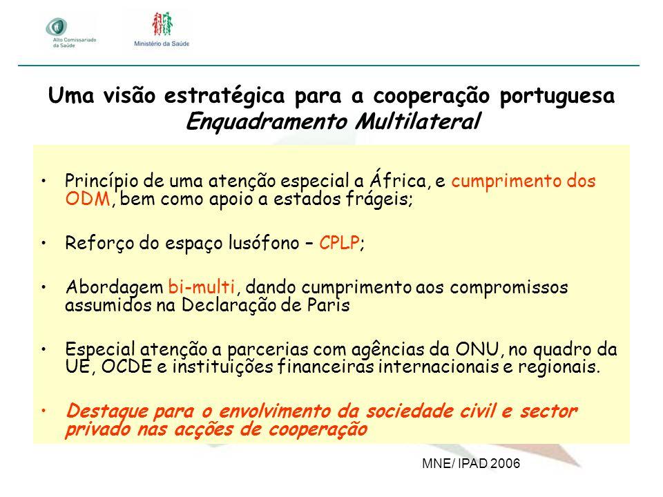 Uma visão estratégica para a cooperação portuguesa Enquadramento Multilateral