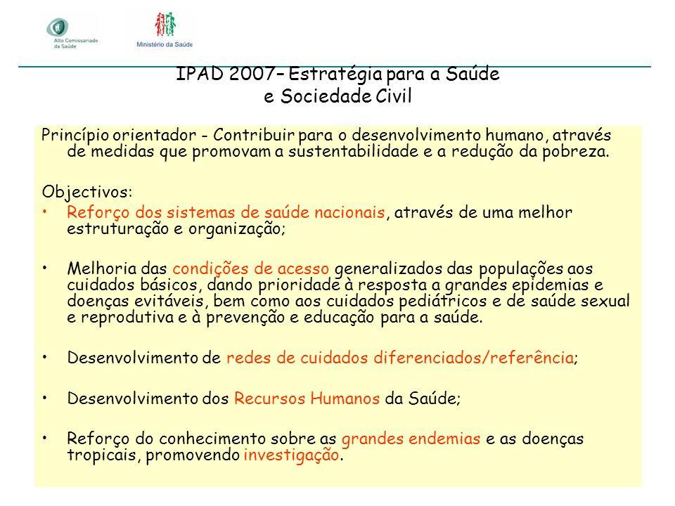 IPAD 2007– Estratégia para a Saúde e Sociedade Civil