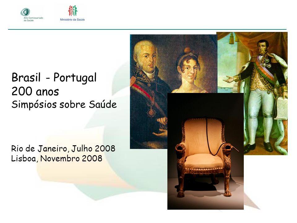 Brasil - Portugal 200 anos Simpósios sobre Saúde