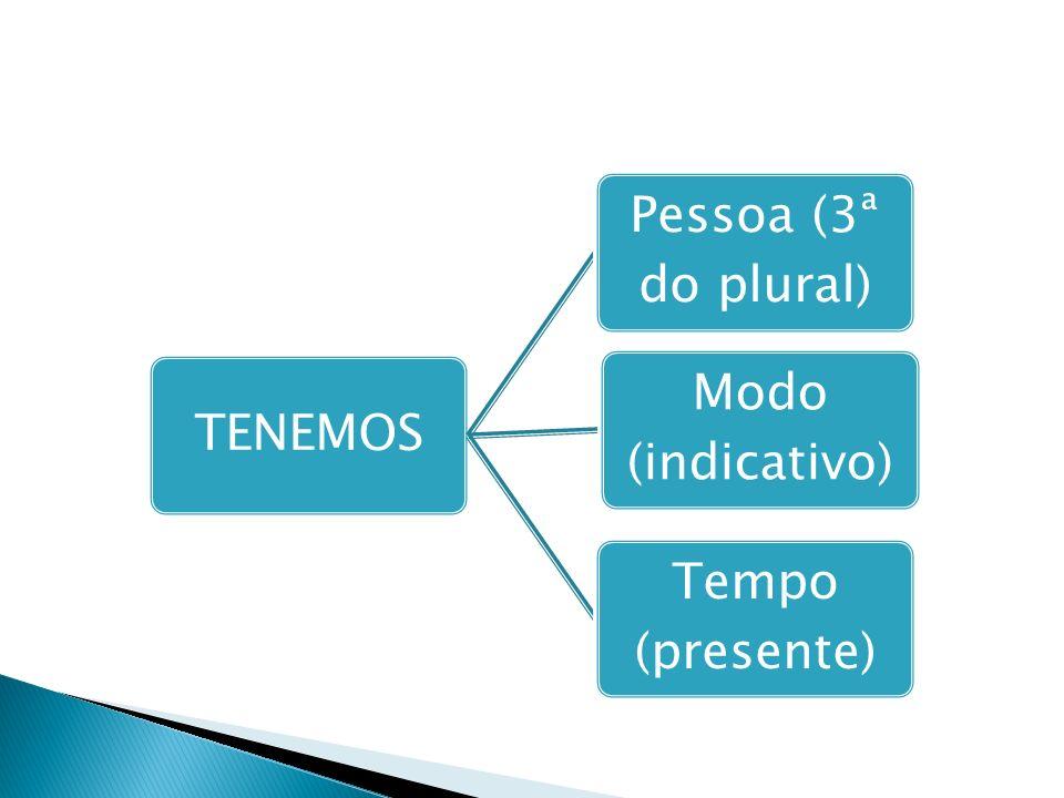 TENEMOS Pessoa (3ª do plural) Modo (indicativo) Tempo (presente)