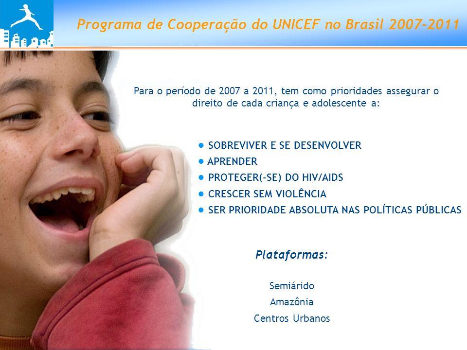 Programa de Cooperação do UNICEF no Brasil 2007-2011