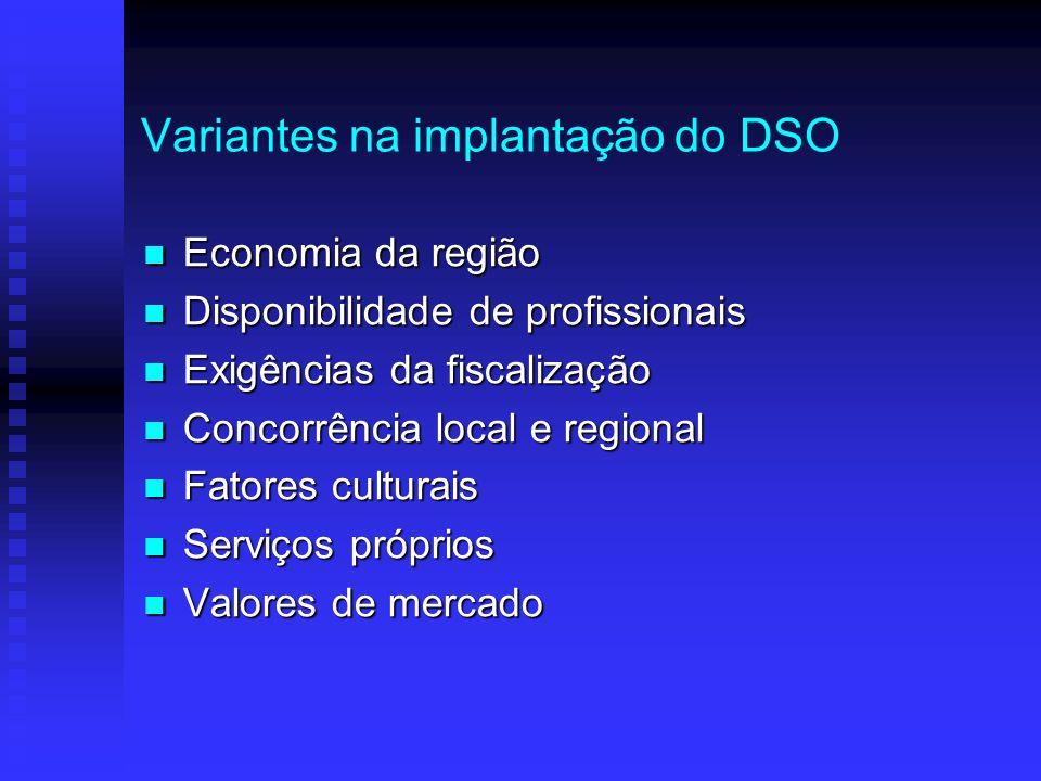 Variantes na implantação do DSO