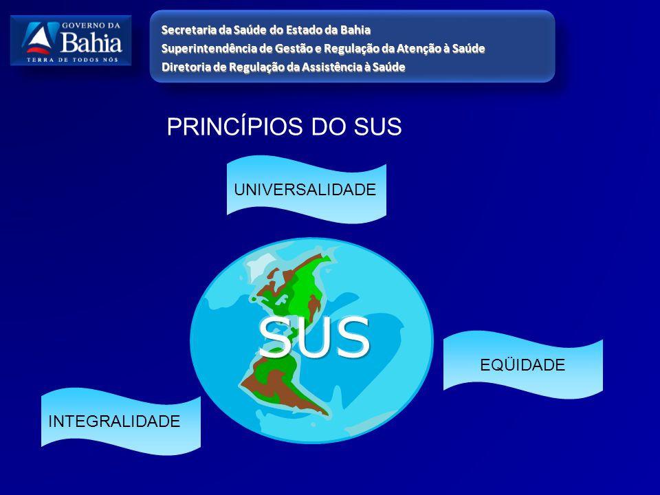 SUS PRINCÍPIOS DO SUS UNIVERSALIDADE EQÜIDADE INTEGRALIDADE