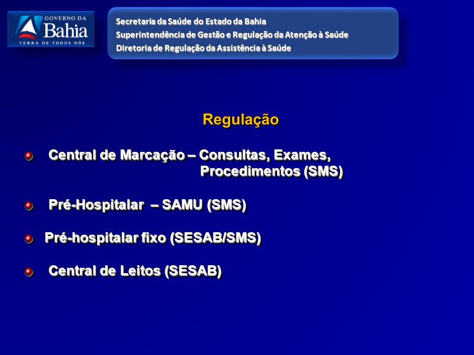 Regulação Central de Marcação – Consultas, Exames, Procedimentos (SMS)