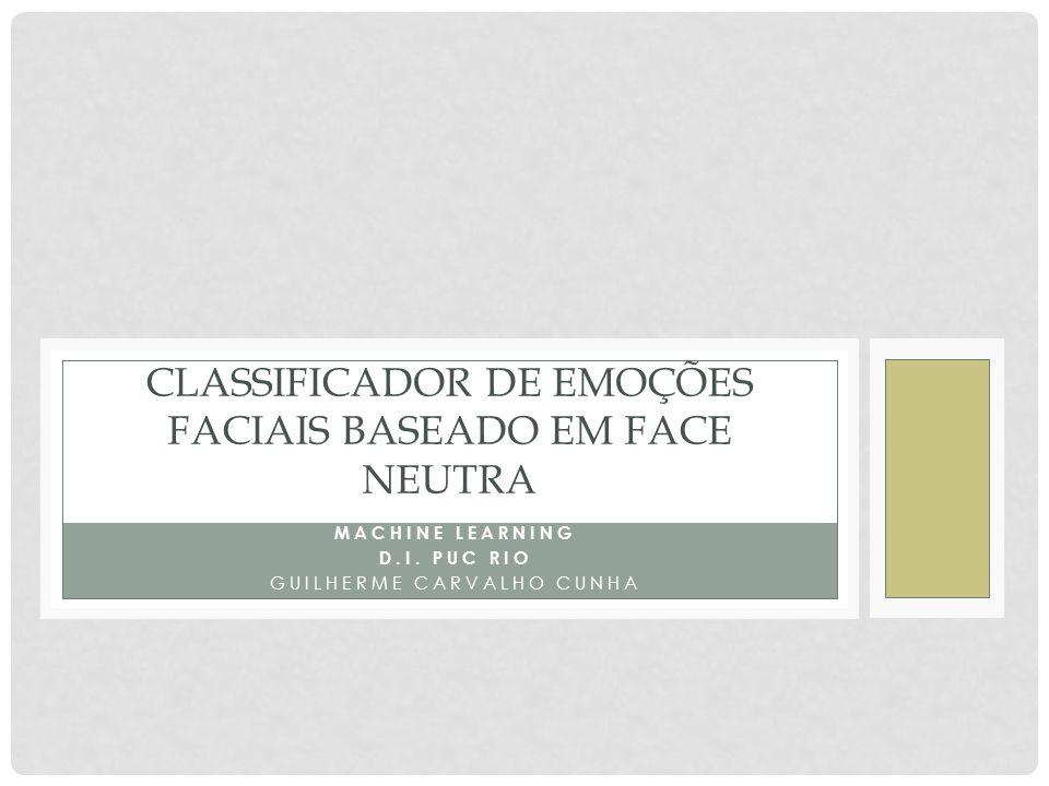 Classificador de emoções faciais baseado em face neutra
