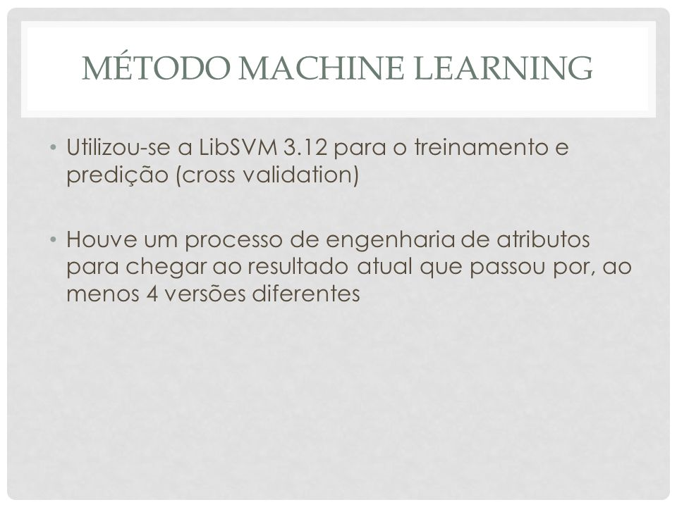 Método machine learning