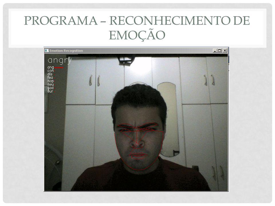 Programa – reconhecimento de emoção