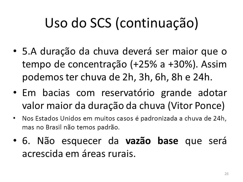 Uso do SCS (continuação)