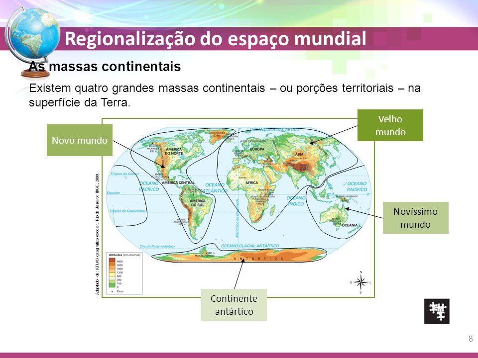 As massas continentais