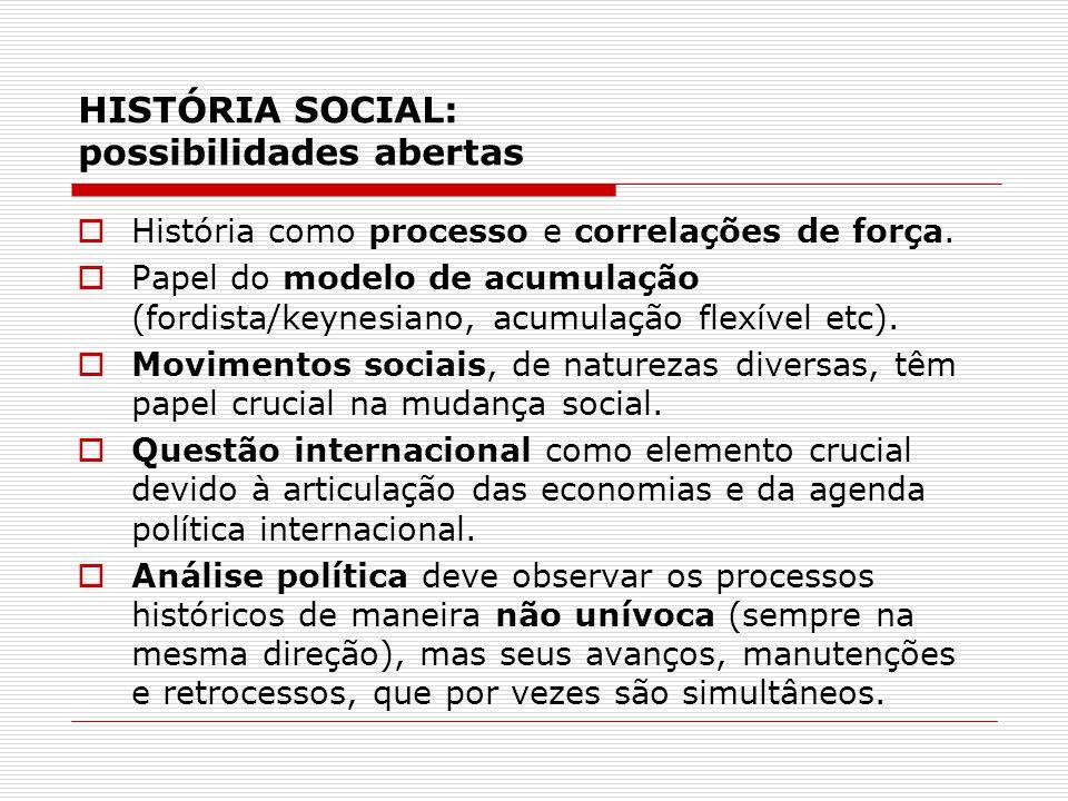 HISTÓRIA SOCIAL: possibilidades abertas