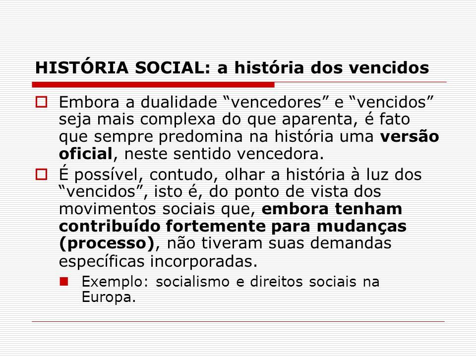 HISTÓRIA SOCIAL: a história dos vencidos