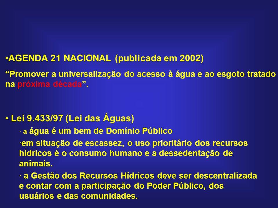 AGENDA 21 NACIONAL (publicada em 2002)