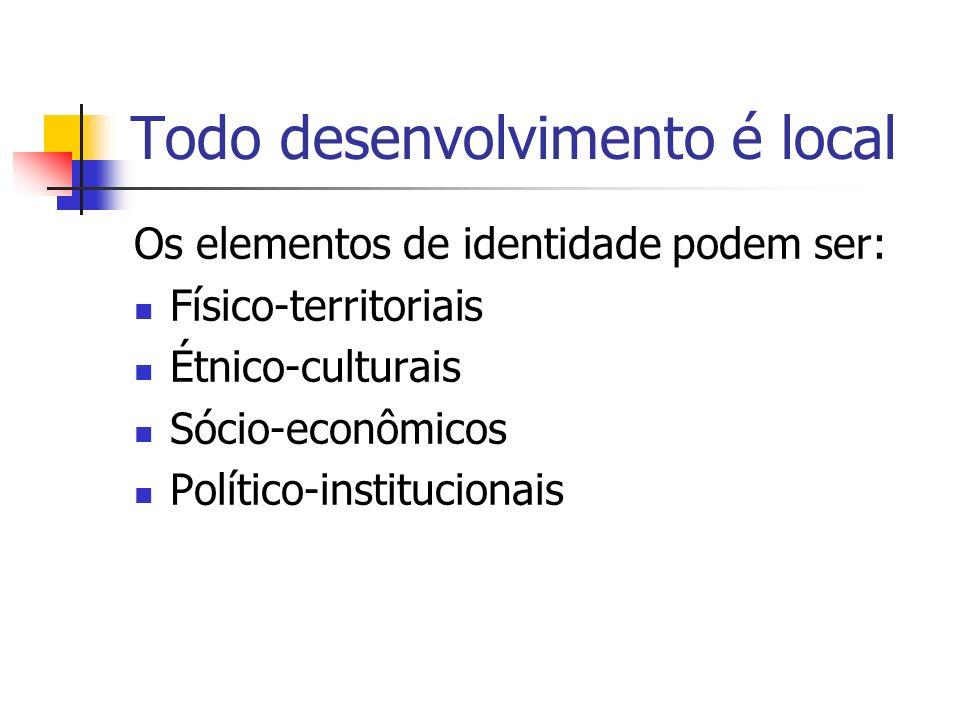 Todo desenvolvimento é local