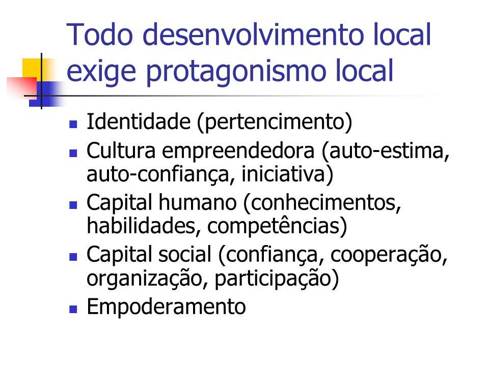 Todo desenvolvimento local exige protagonismo local