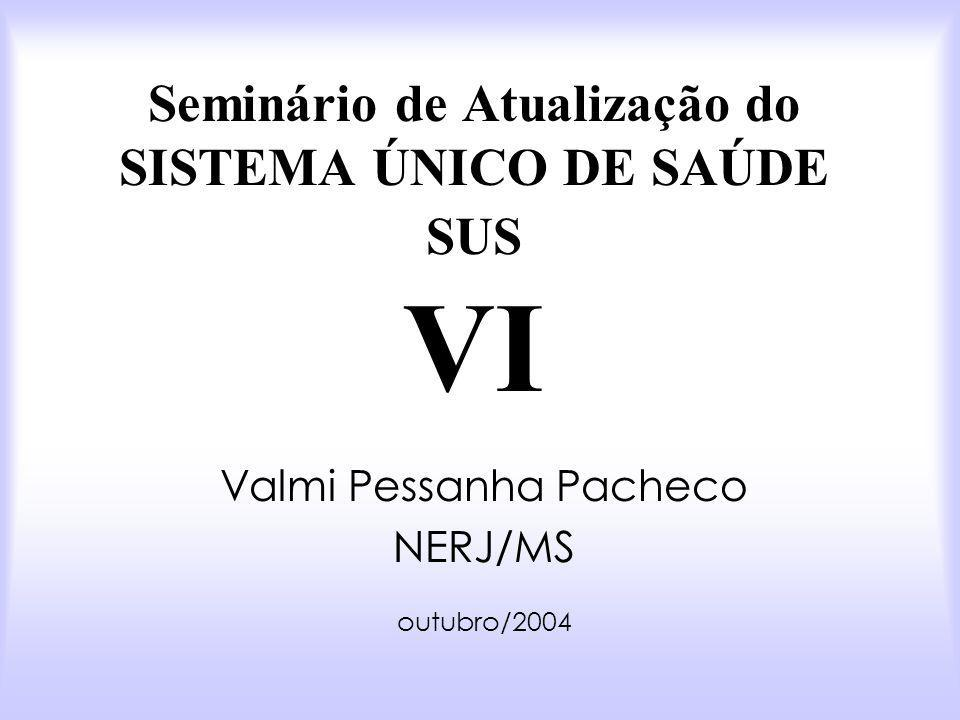 Seminário de Atualização do SISTEMA ÚNICO DE SAÚDE SUS VI