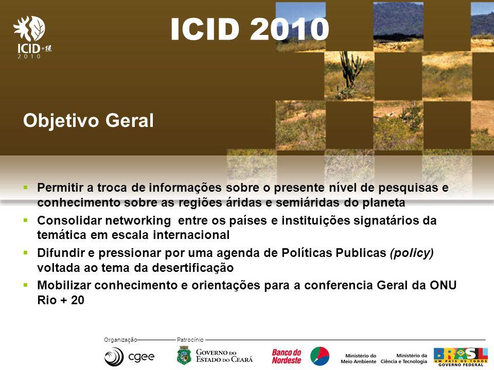 ICID 2010 Objetivo Geral.