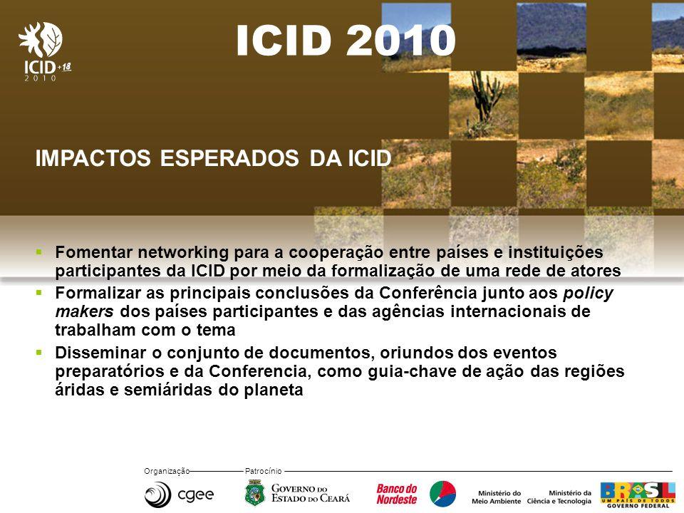 ICID 2010 IMPACTOS ESPERADOS DA ICID