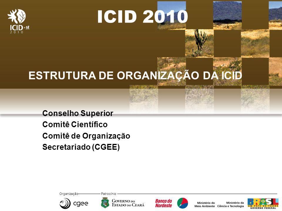 ICID 2010 ESTRUTURA DE ORGANIZAÇÃO DA ICID Conselho Superior
