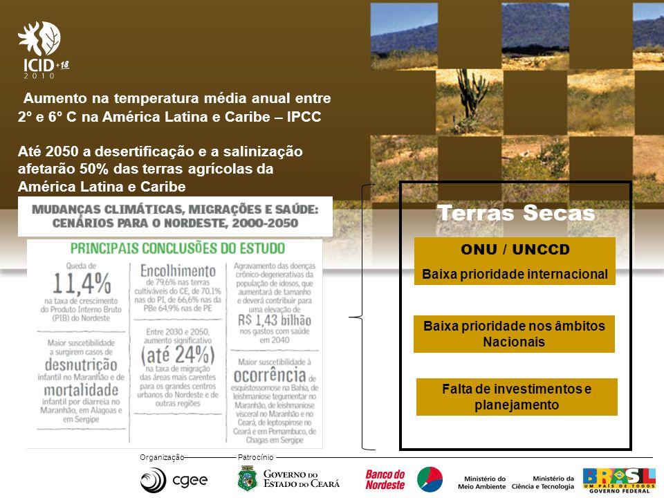 Aumento na temperatura média anual entre 2° e 6° C na América Latina e Caribe – IPCC