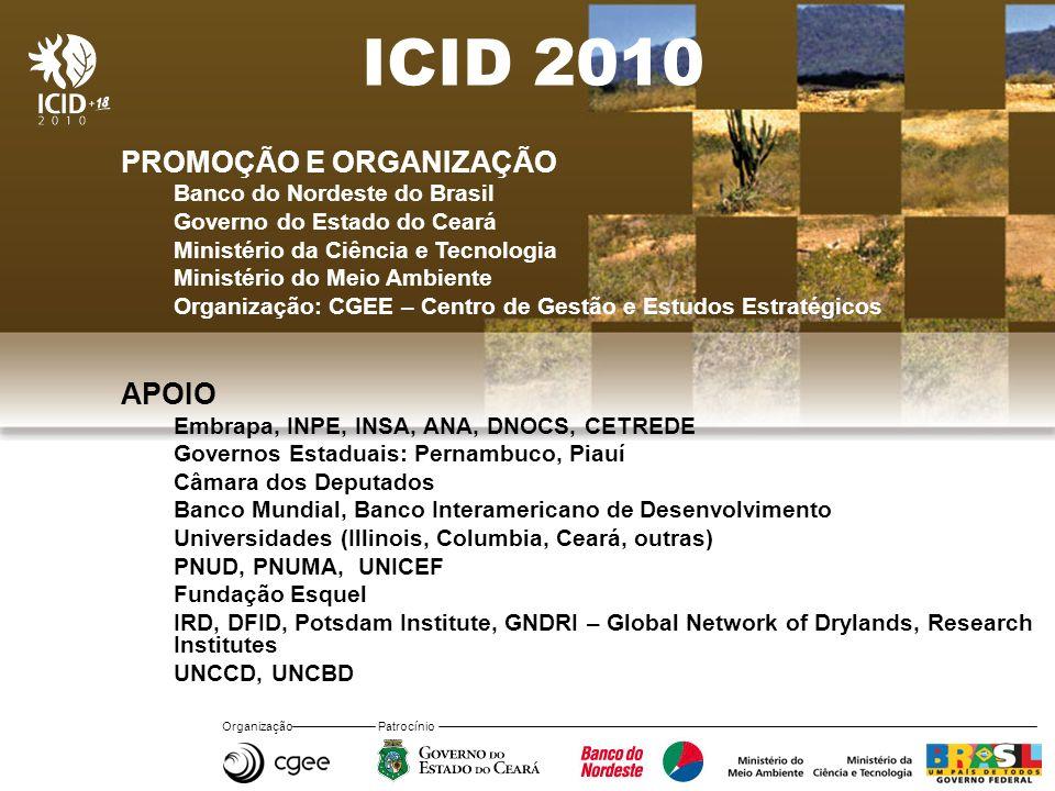 ICID 2010 PROMOÇÃO E ORGANIZAÇÃO APOIO Banco do Nordeste do Brasil