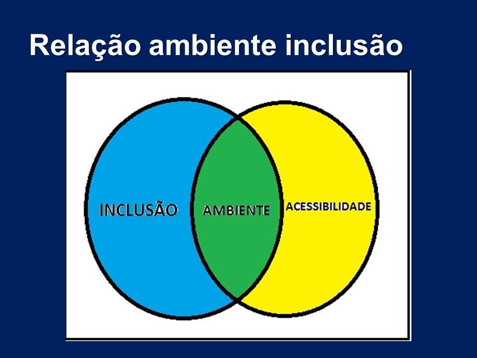 Relação ambiente inclusão