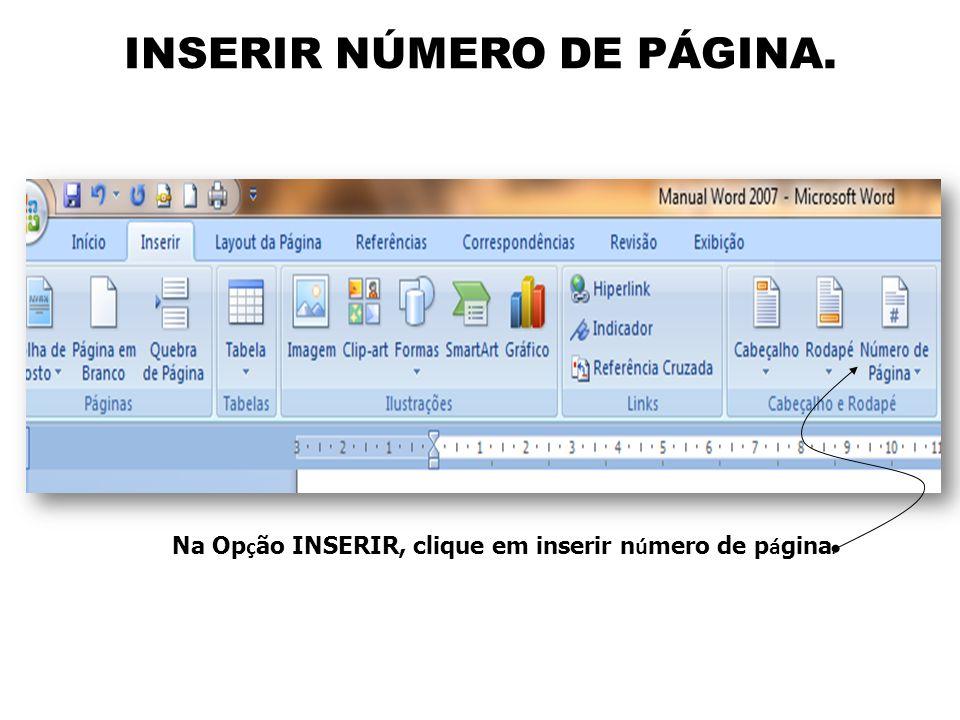INSERIR NÚMERO DE PÁGINA.