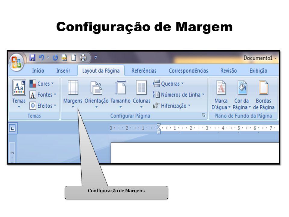 Configuração de Margem