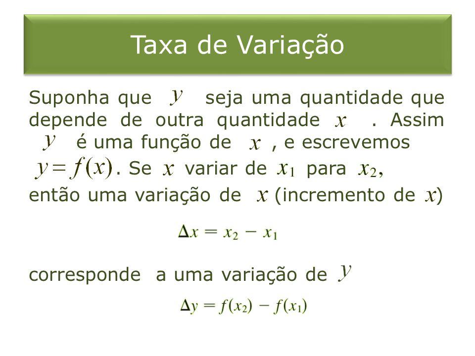 Taxa de Variação