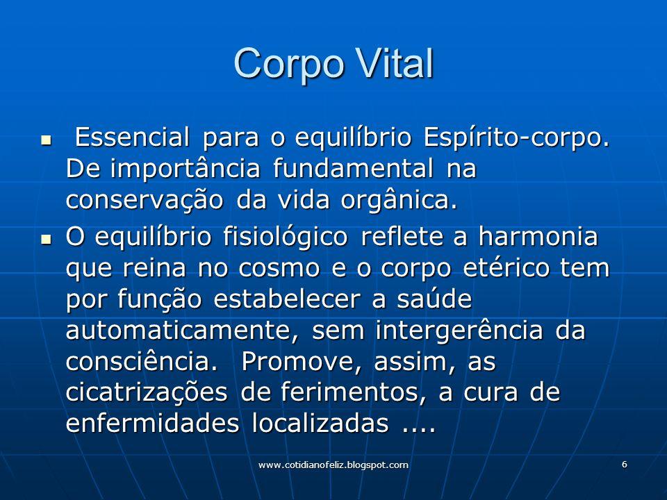 Corpo Vital Essencial para o equilíbrio Espírito-corpo. De importância fundamental na conservação da vida orgânica.