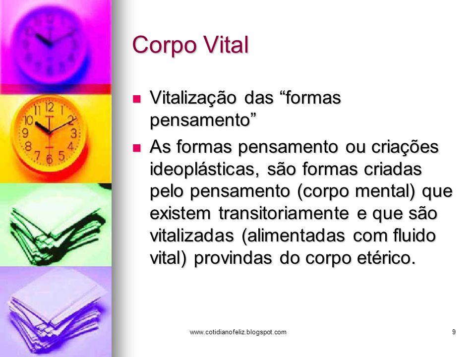 Corpo Vital Vitalização das formas pensamento