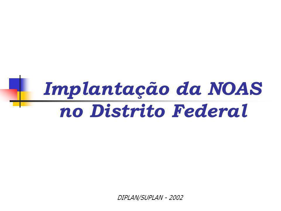 Implantação da NOAS no Distrito Federal