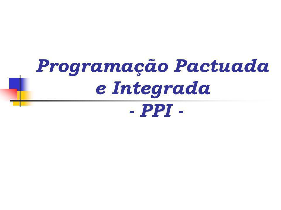 Programação Pactuada e Integrada - PPI -