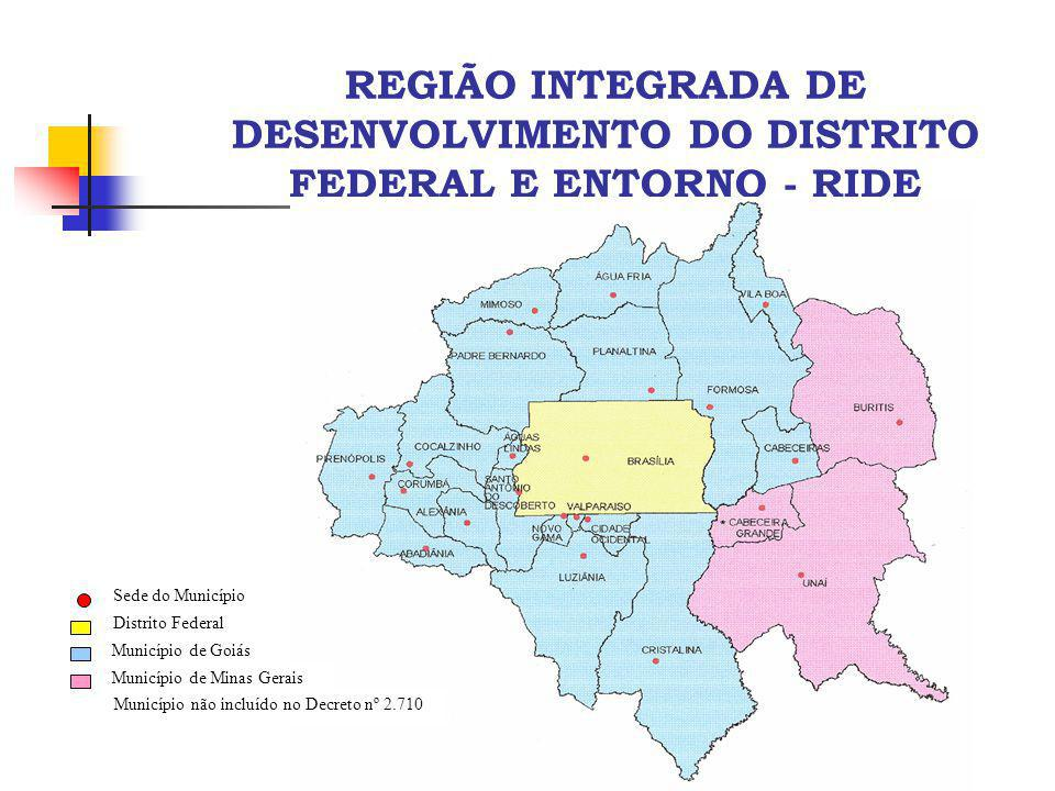REGIÃO INTEGRADA DE DESENVOLVIMENTO DO DISTRITO FEDERAL E ENTORNO - RIDE