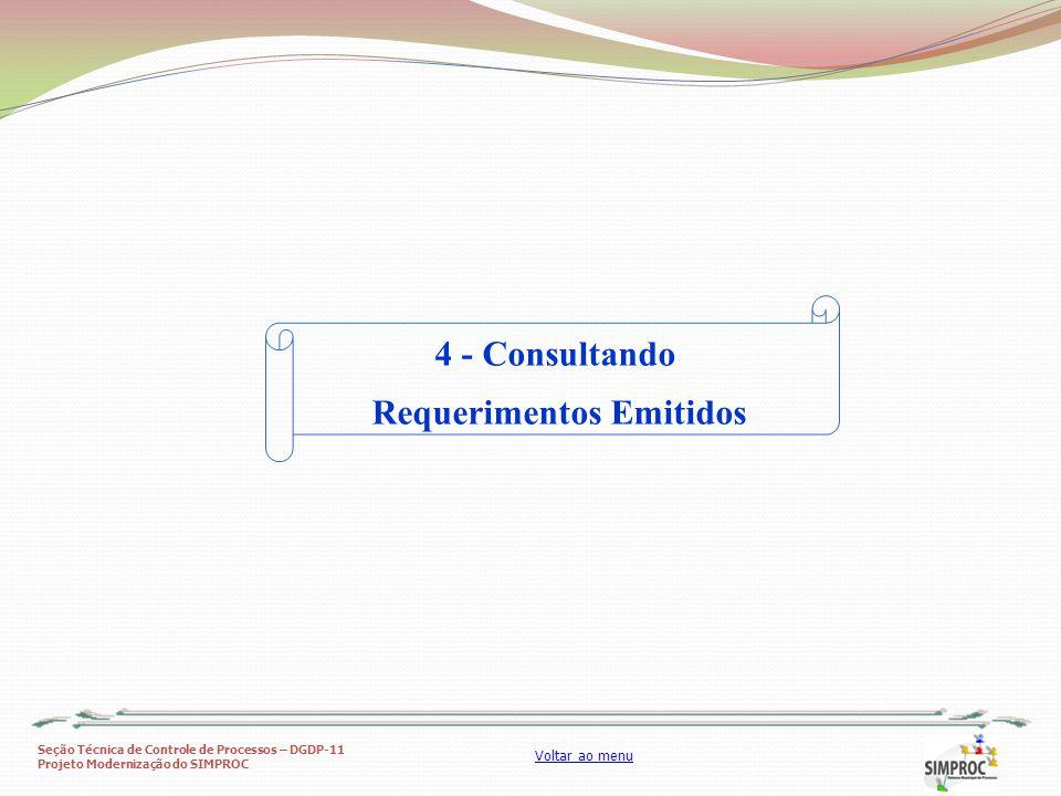 Requerimentos Emitidos