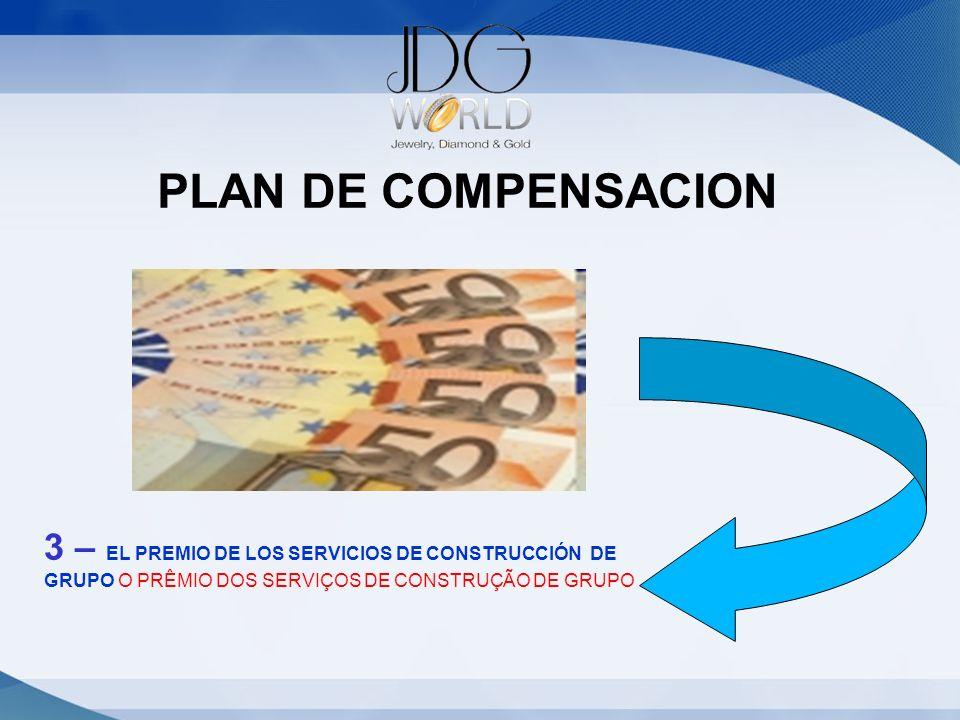 PLAN DE COMPENSACION 3 – EL PREMIO DE LOS SERVICIOS DE CONSTRUCCIÓN DE GRUPO O PRÊMIO DOS SERVIÇOS DE CONSTRUÇÃO DE GRUPO.