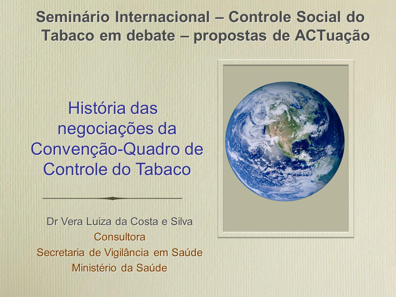 História das negociações da Convenção-Quadro de Controle do Tabaco